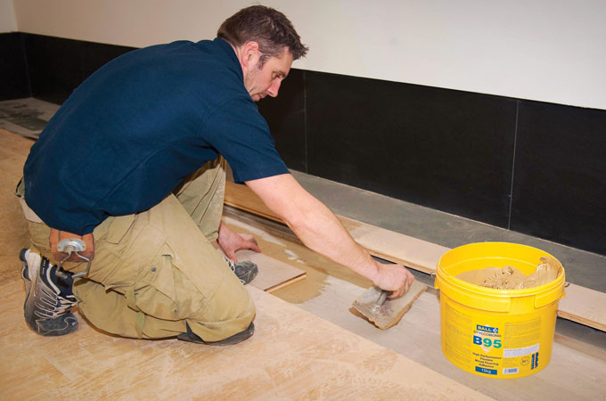 Wooden Flooring Adhesives - Solid Wood Tile Adhesive : F