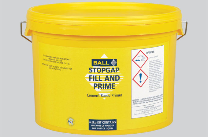 Stopgap Fill and Prime Flexible Cement Based Primer