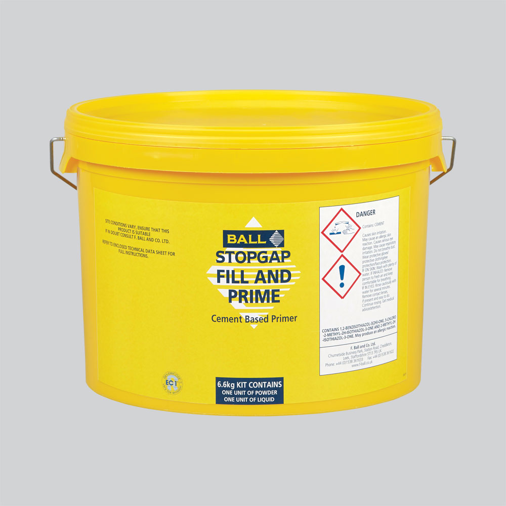 Stopgap Fill and Prime Flexible Cement Based Primer